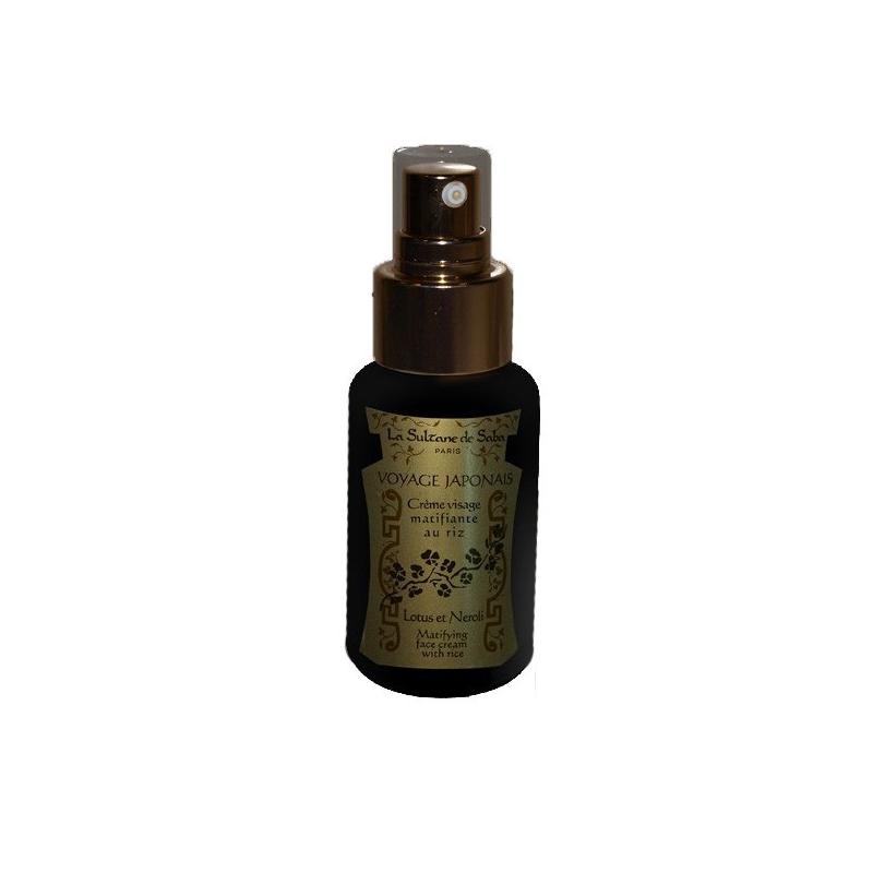 Crème visage matifiante au Riz Lotus et Néroli - La Sultane de Saba